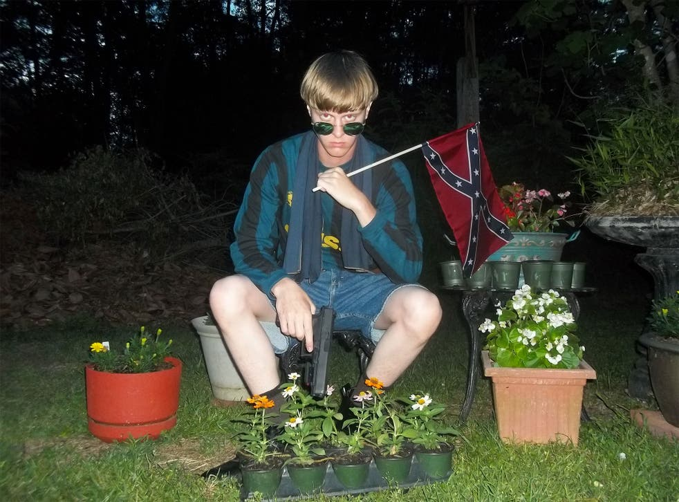 Dylann Roof pictured on the website that also featured a rambling 'manifesto'