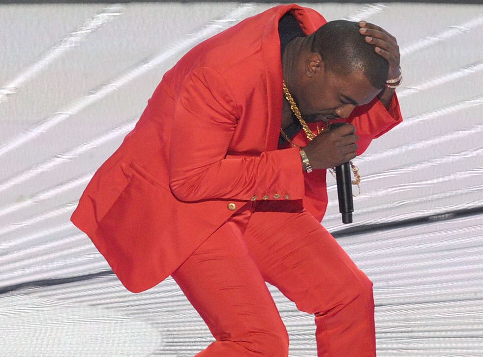 Rapper Kanye West had better invest in some wipe-clean gear for Glastonbury