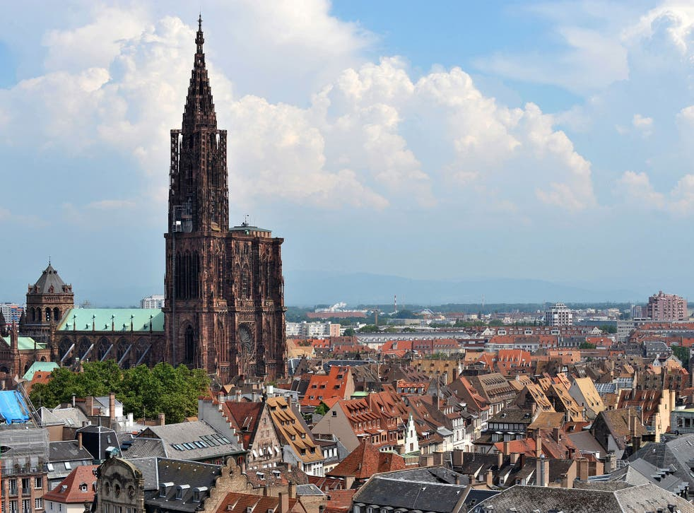 The raids took place in Strasbourg where the city's historic Christmas market is due to take place
