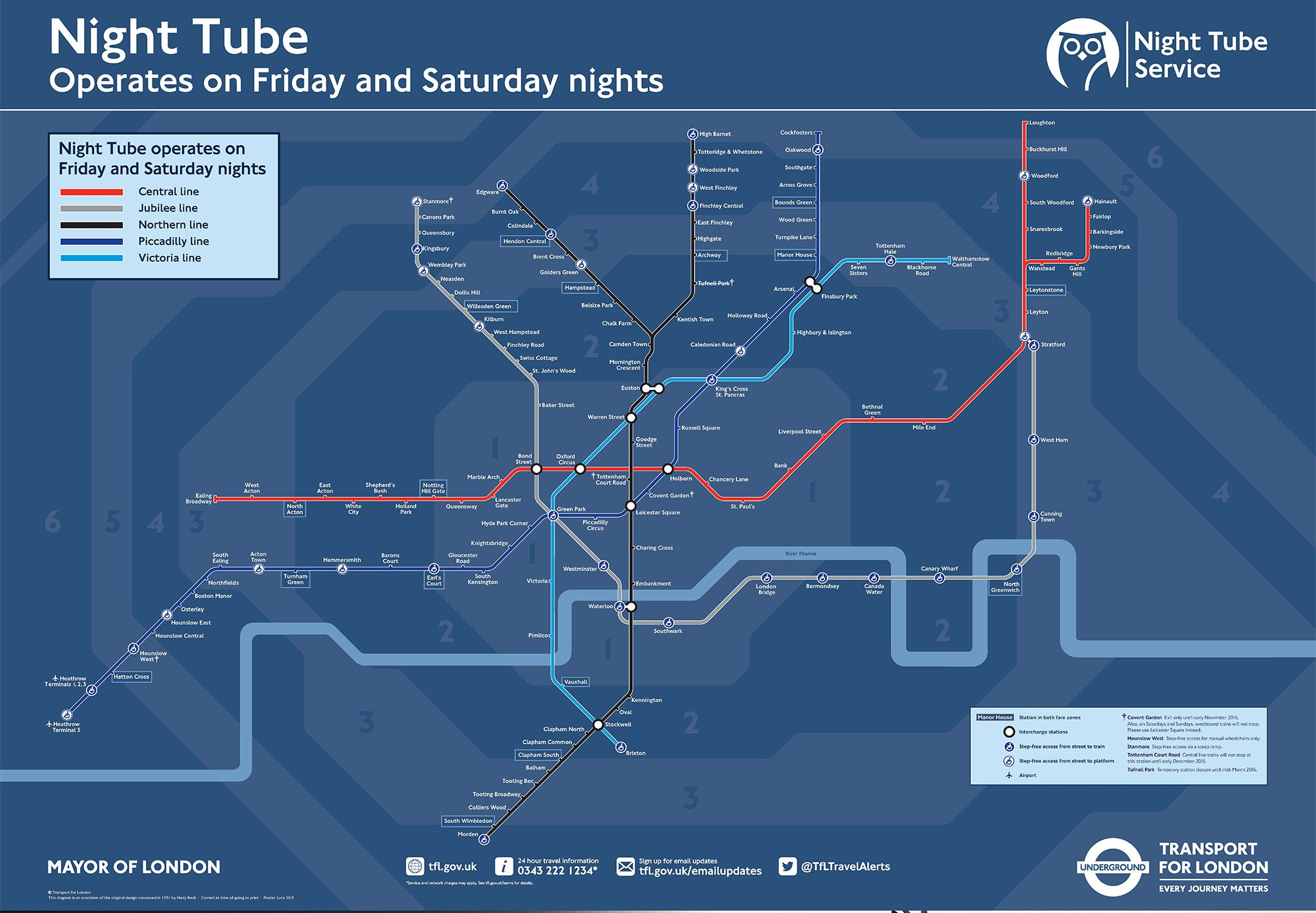 Night Tube map: What London Underground lines will run and when | The  Independent | The Independent