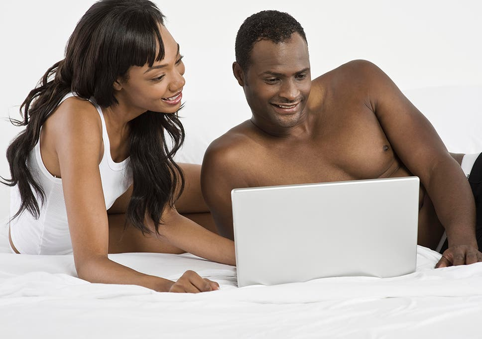 Mature couple watching porn