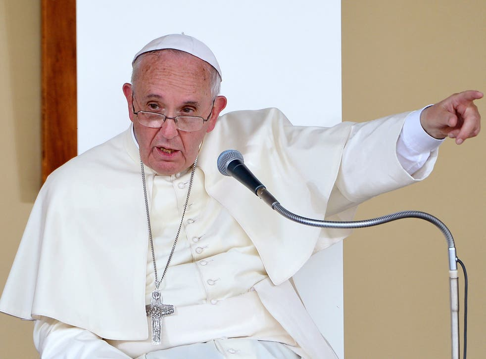 """Pope Francis asked why the """"great powers"""" did not bomb the rail routes to Auschwitz"""