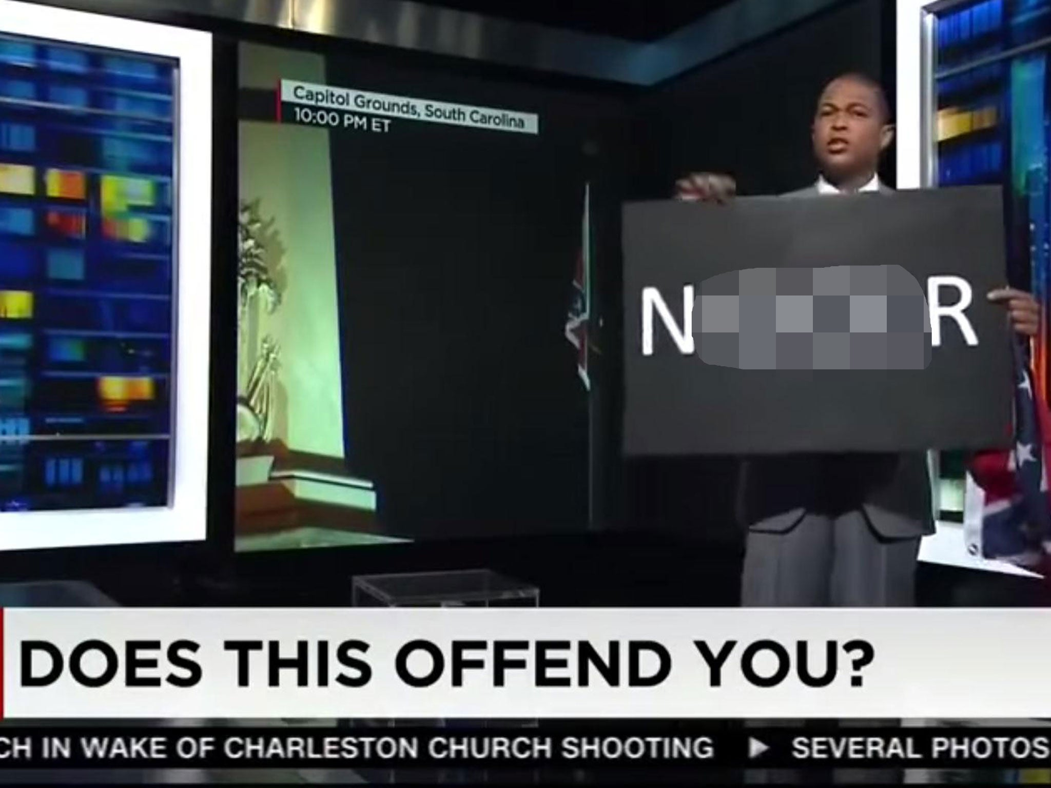 Don Lemon Open Letter.Don Lemon Ridiculed For Holding Sign Reading N R And Asking