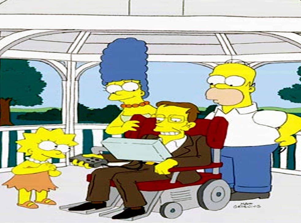 Hawking in 'The Simpsons' in 2005