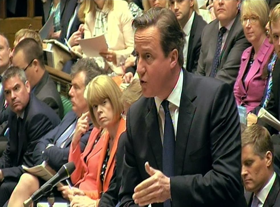 David Cameron described the chaotic scenes in Calais as 'totally unacceptable' at Prime Minister's Questions