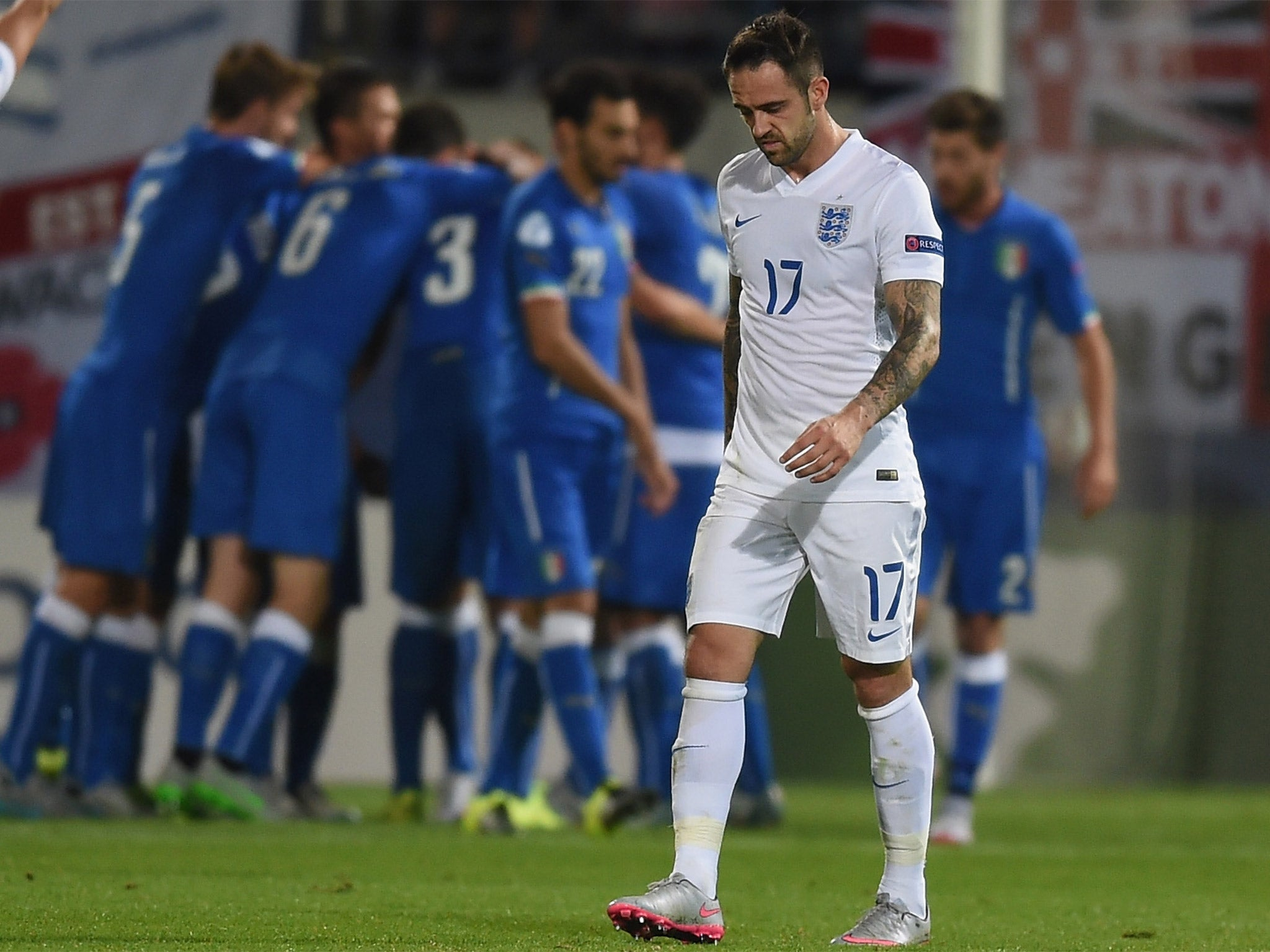 b713f421fc7 canada italy 5 gagliardini home soccer country jersey 9562f 8825a  sale  danny ings looks dejected as the italians celebrate their third goal 1fbc1  85e70
