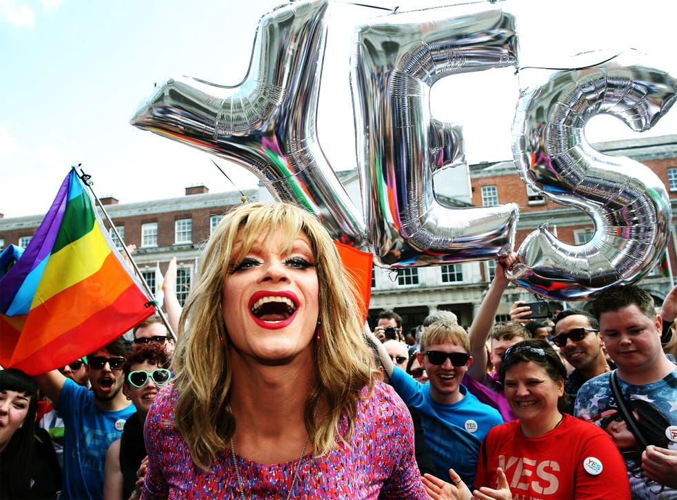 Gay rights activists during Ireland's referendum on same-sex marriage. The word 'cisgender' has gained validity by being included in the Oxford English Dictionary