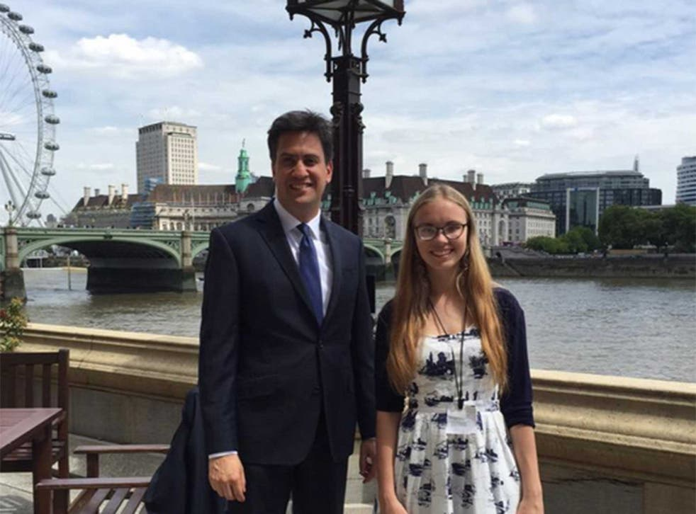 Ed Miliband and Abby Tomlinson