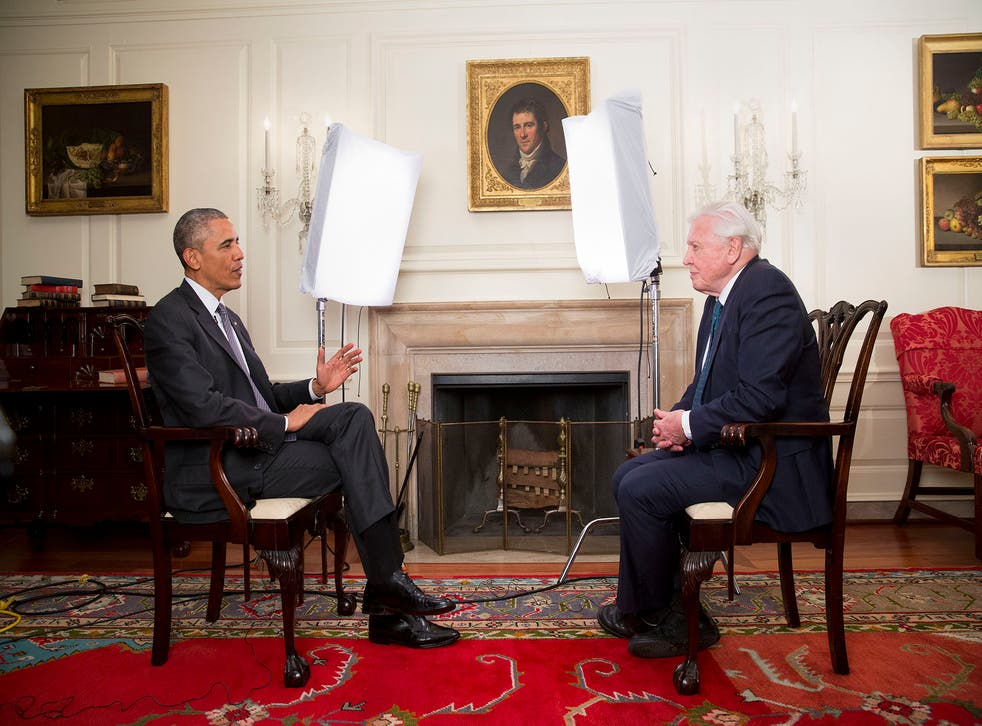President Obama interviewed David Attenborough in the White House