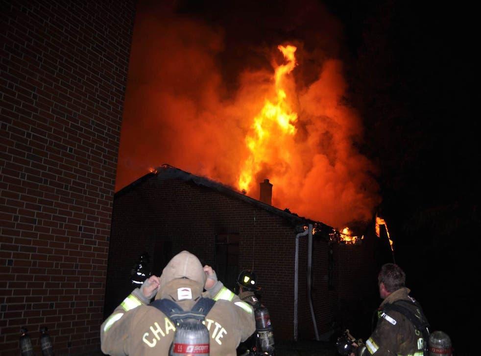 The fire at Charlott's Briar Creek Road Baptist Church