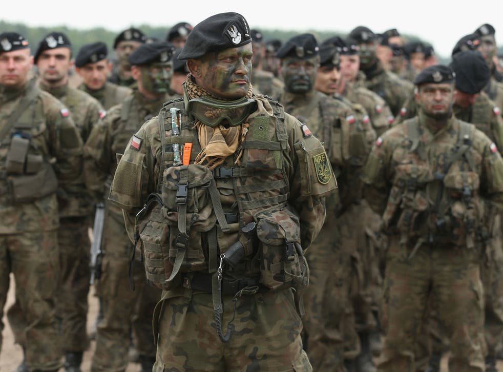 Polish soldiers take part in Nato's Noble Jump exercise - one that was at least partly intended as a show of force to Russia