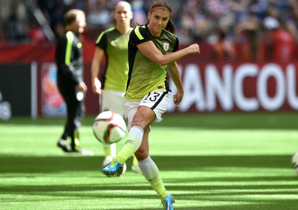 3473a7cbd Alex Morgan made her first start in the tournament against Colombia on  Monday
