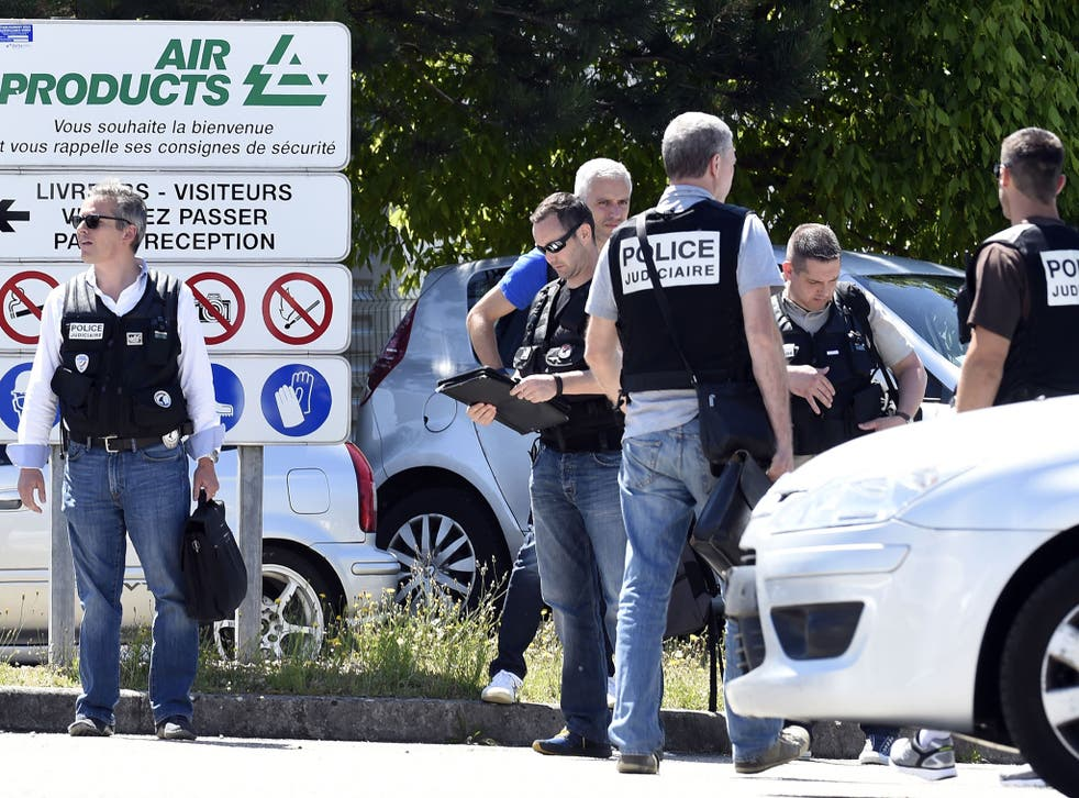French police have shut off Air Products in Saint-Quentin-Fallavier, near Lyon