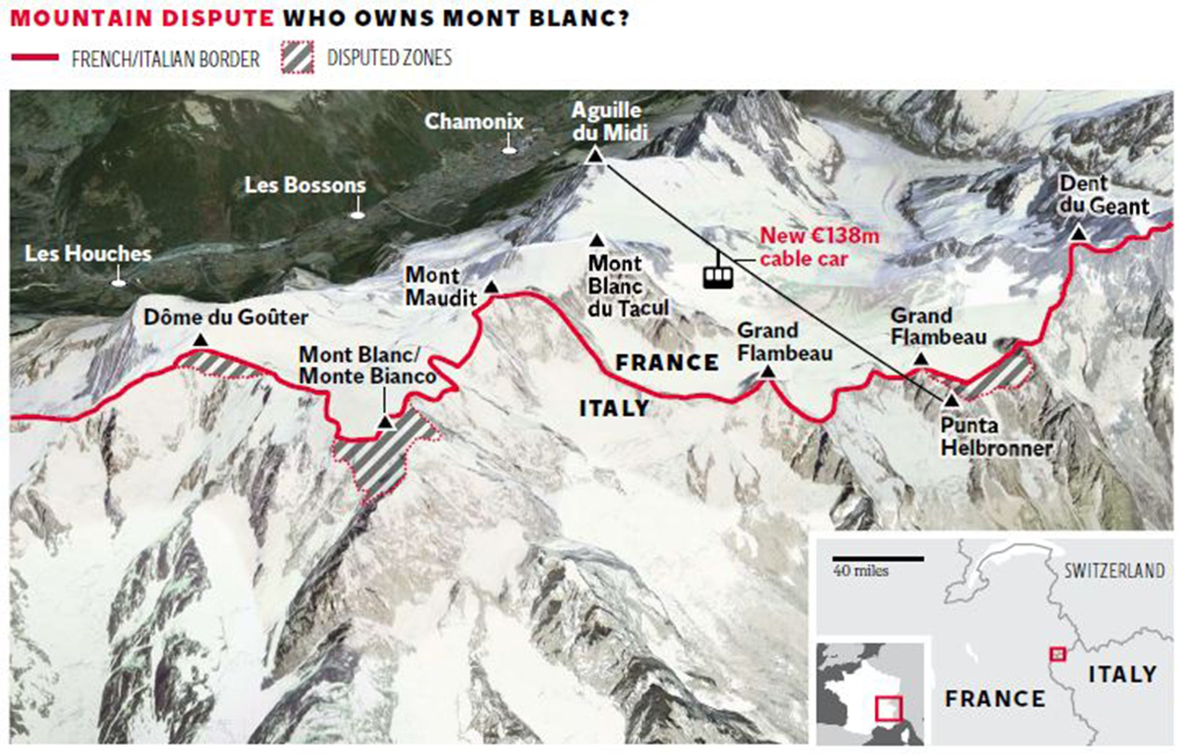Mont Blanc France Map.Mont Blanc Controversy French Suffer A Fit Of Pique As Italy S