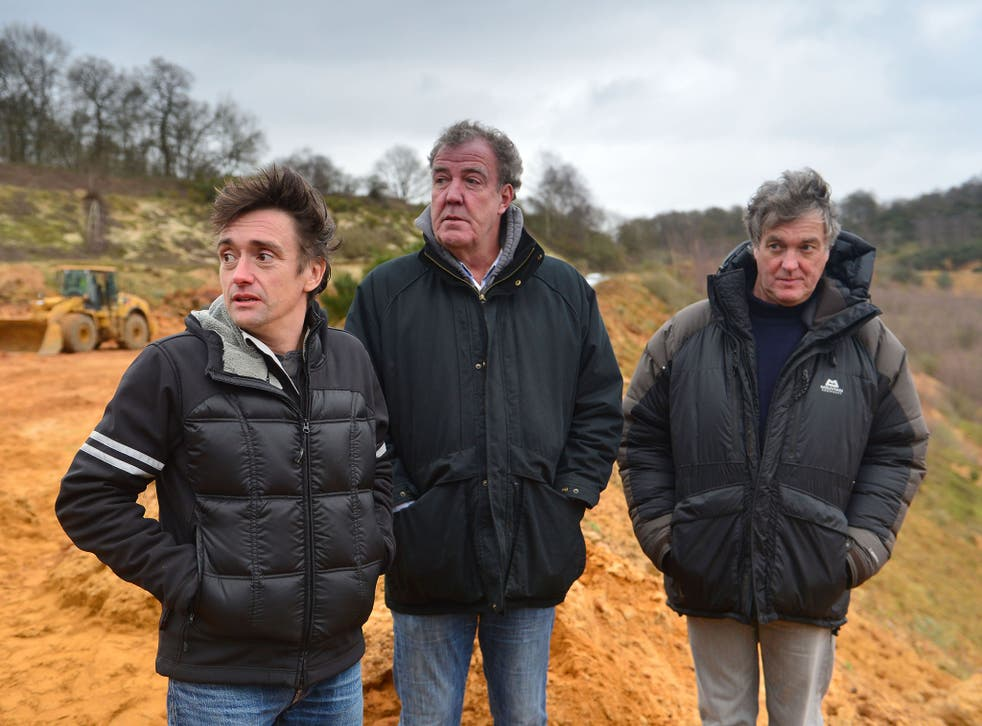 Richard Hammond, Jeremy Clarkson and James May in the final Top Gear with its former line-up