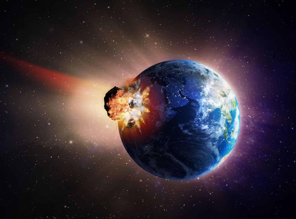 Geologists believe that objects up to 450ft in diameter hit Earth every 100 to 300 years