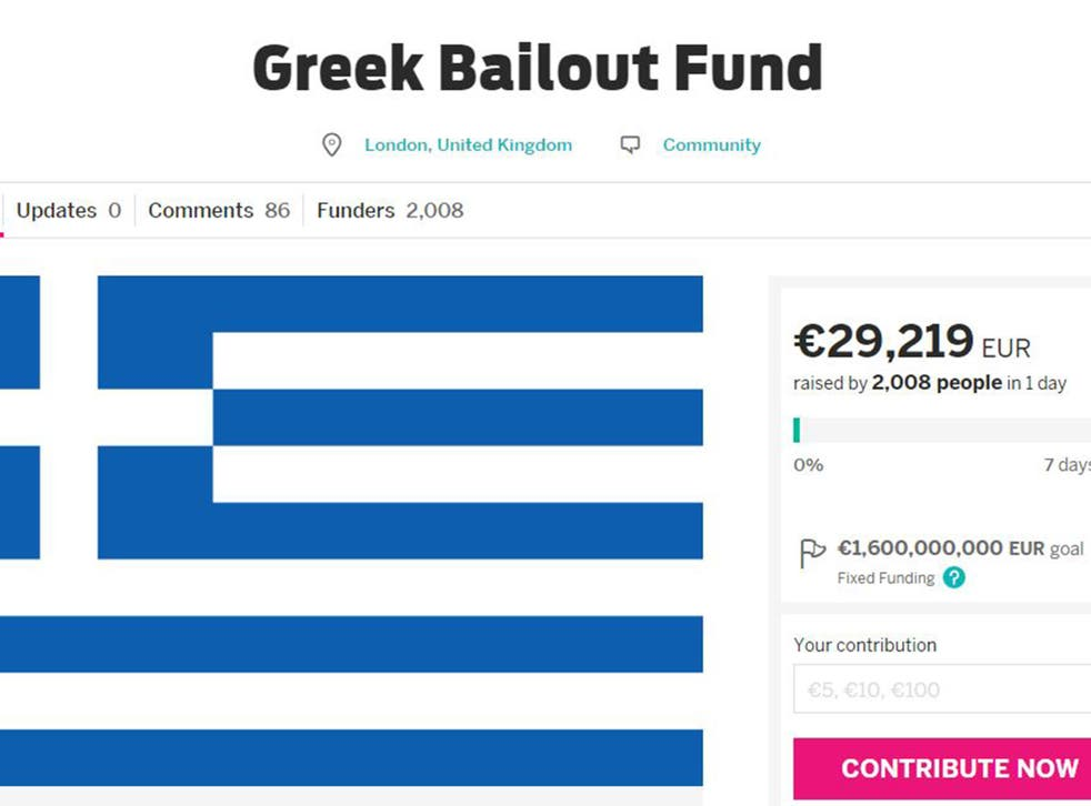 Thousands of people have contributed to a crowdfunding campaign to fund the Greek bailout