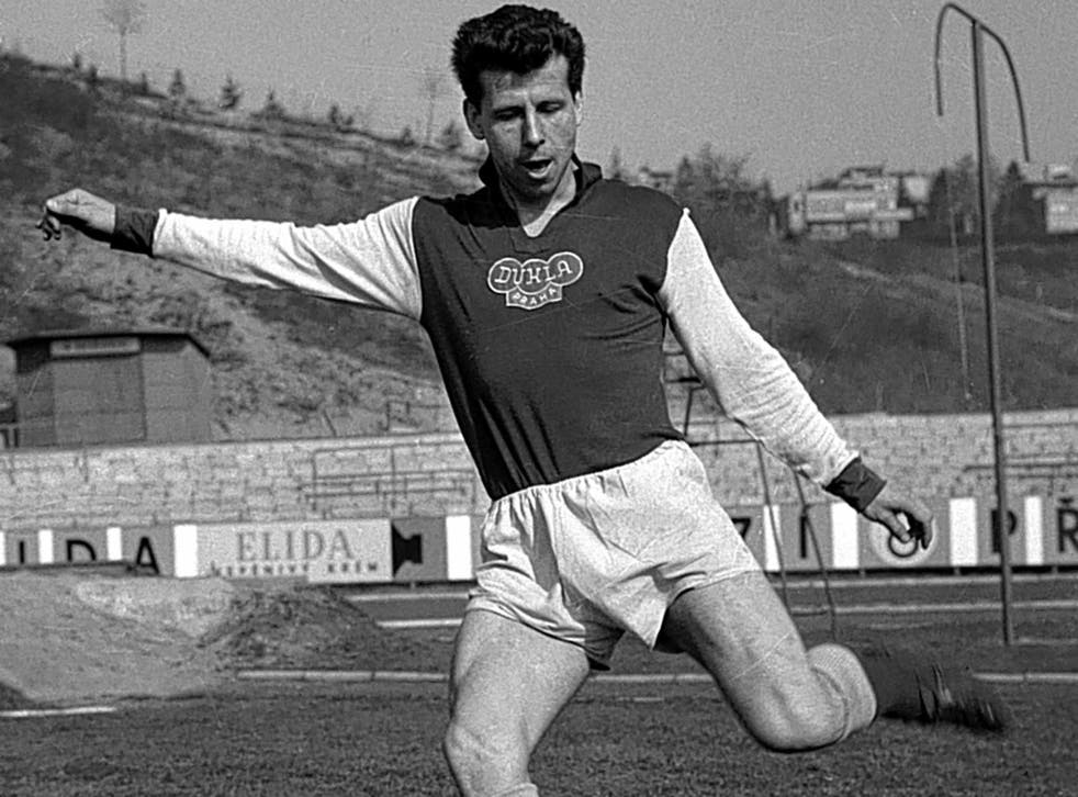 Masopust in 1961: he played 386 games for Dukla Prague and won 63 caps for his country