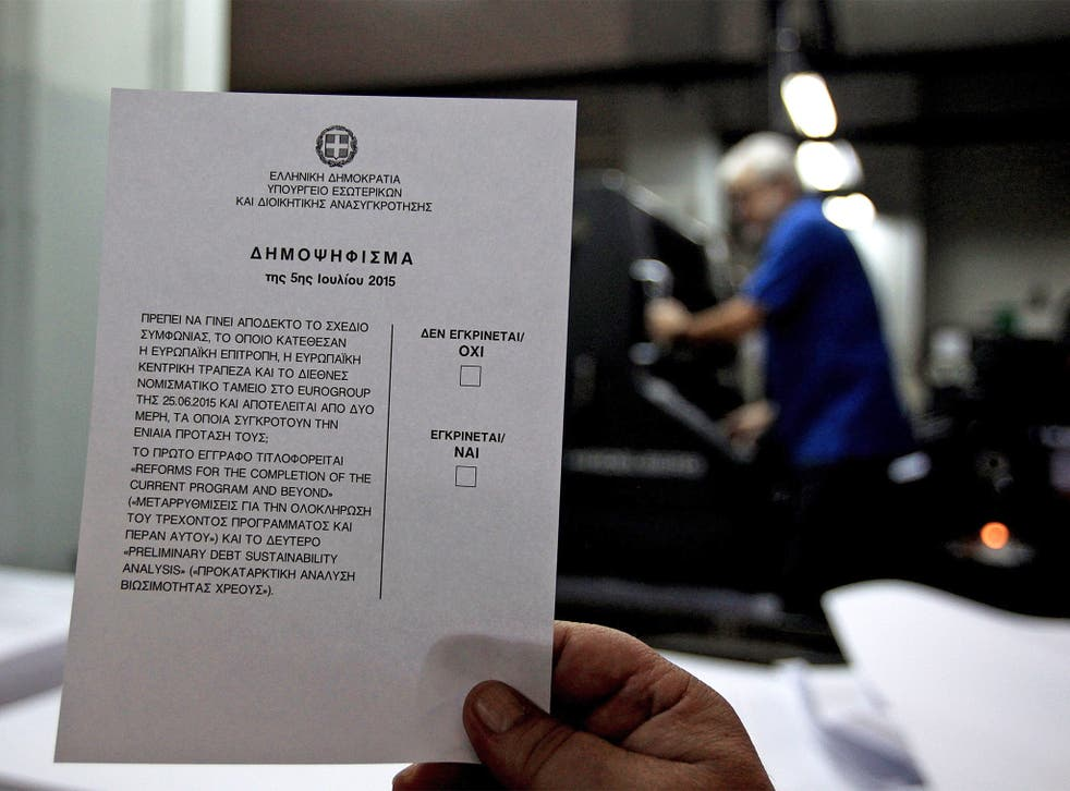 Ballot papers are prepared for the Greek referendum on whether to accept bailout conditions