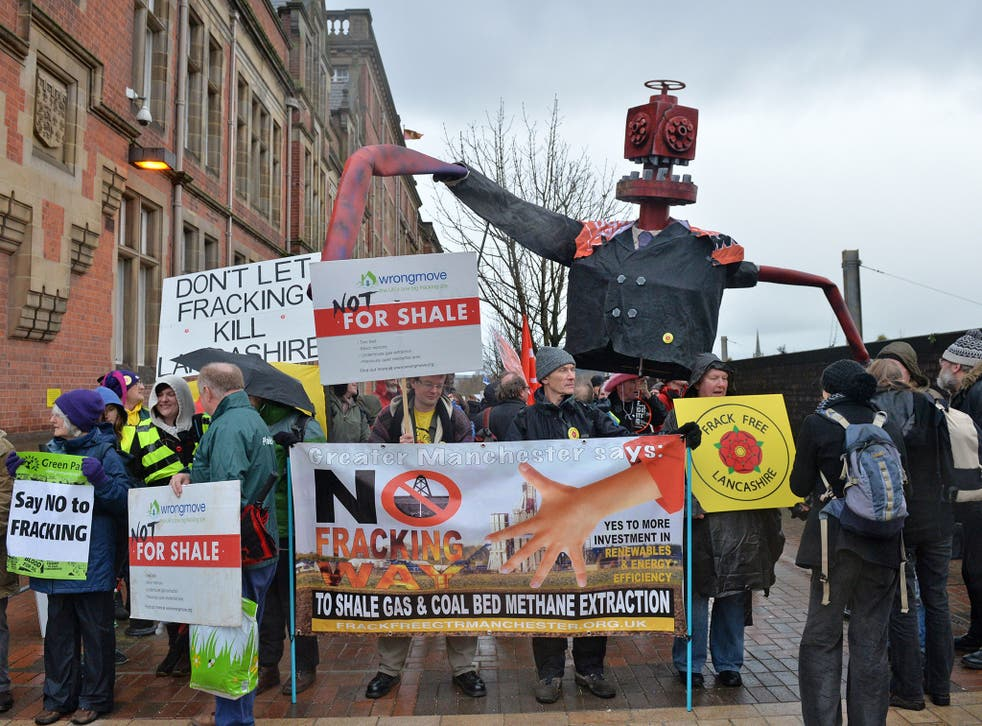 Not for shale: an anti-fracking protest in Preston earlier this year