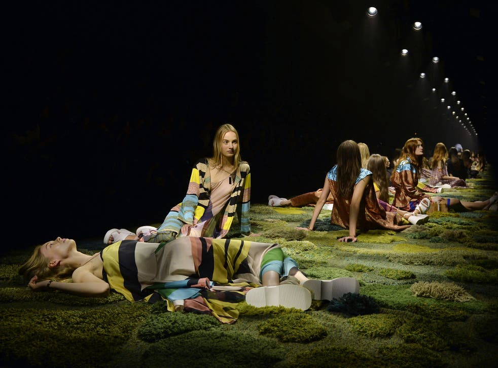 Ophelia the eco-warrior: the finale of Dries Van Noten's 2015 spring/summer show at last September's Paris Fashion Week