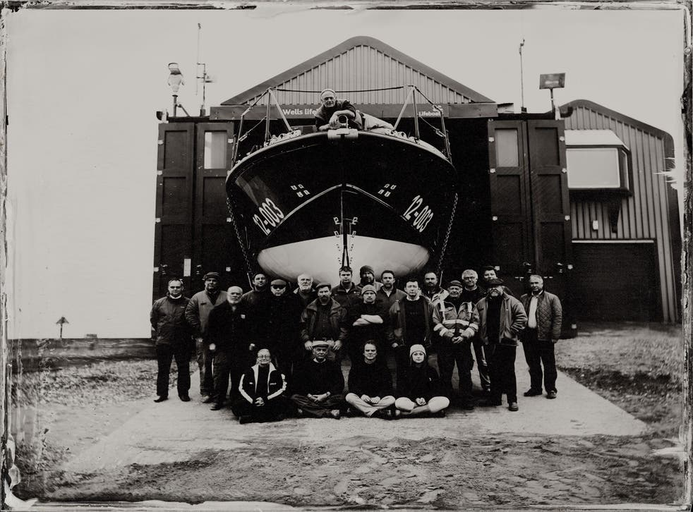 The RNLI crew at Wells-next-the-Sea, Norfolk