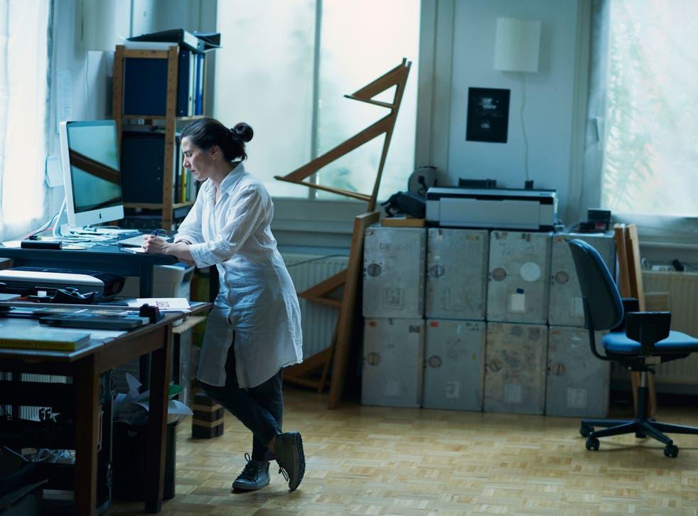 Office romance: Fiona Tan in her studio in Amsterdam
