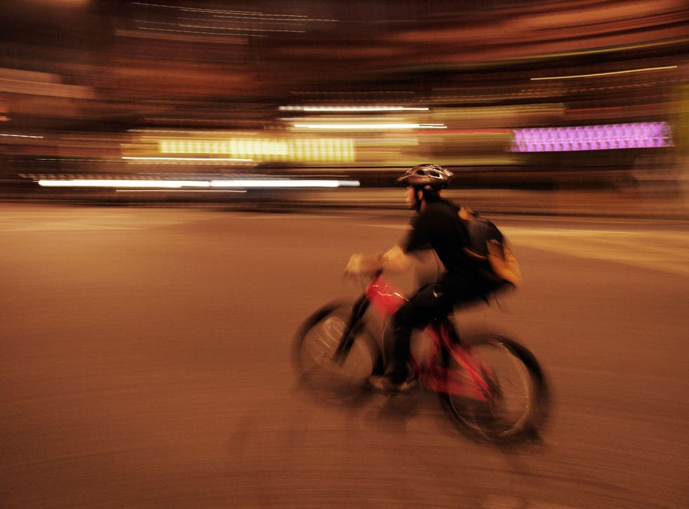 Pedal power: a bike courier in London