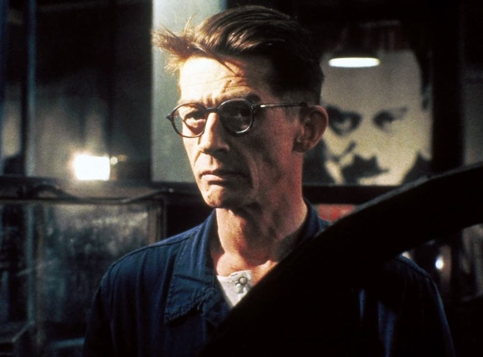 John Hurt as Winston Smith in the film version of 1984