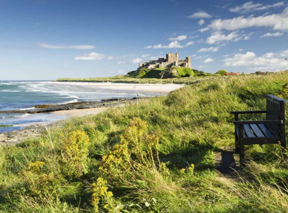 <p>Bamburgh in Northumberland</p>