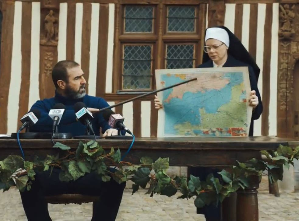 Cantona correctly identifies where the English Channel is