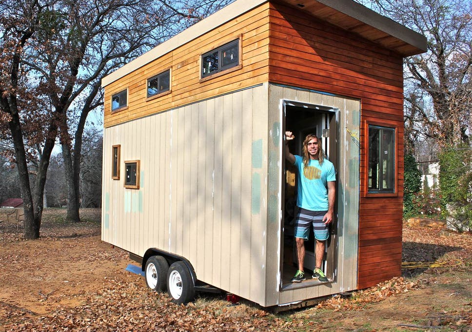 Student builds his own tiny 145-square-foot home - so he can ... on how to stuff homes, how to get a mansion, home free homes, how to get on housing, how to get cars,