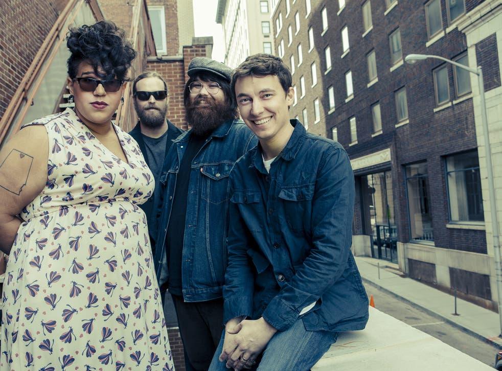 Alabama Shakes posing for their new album, Sound and Colour