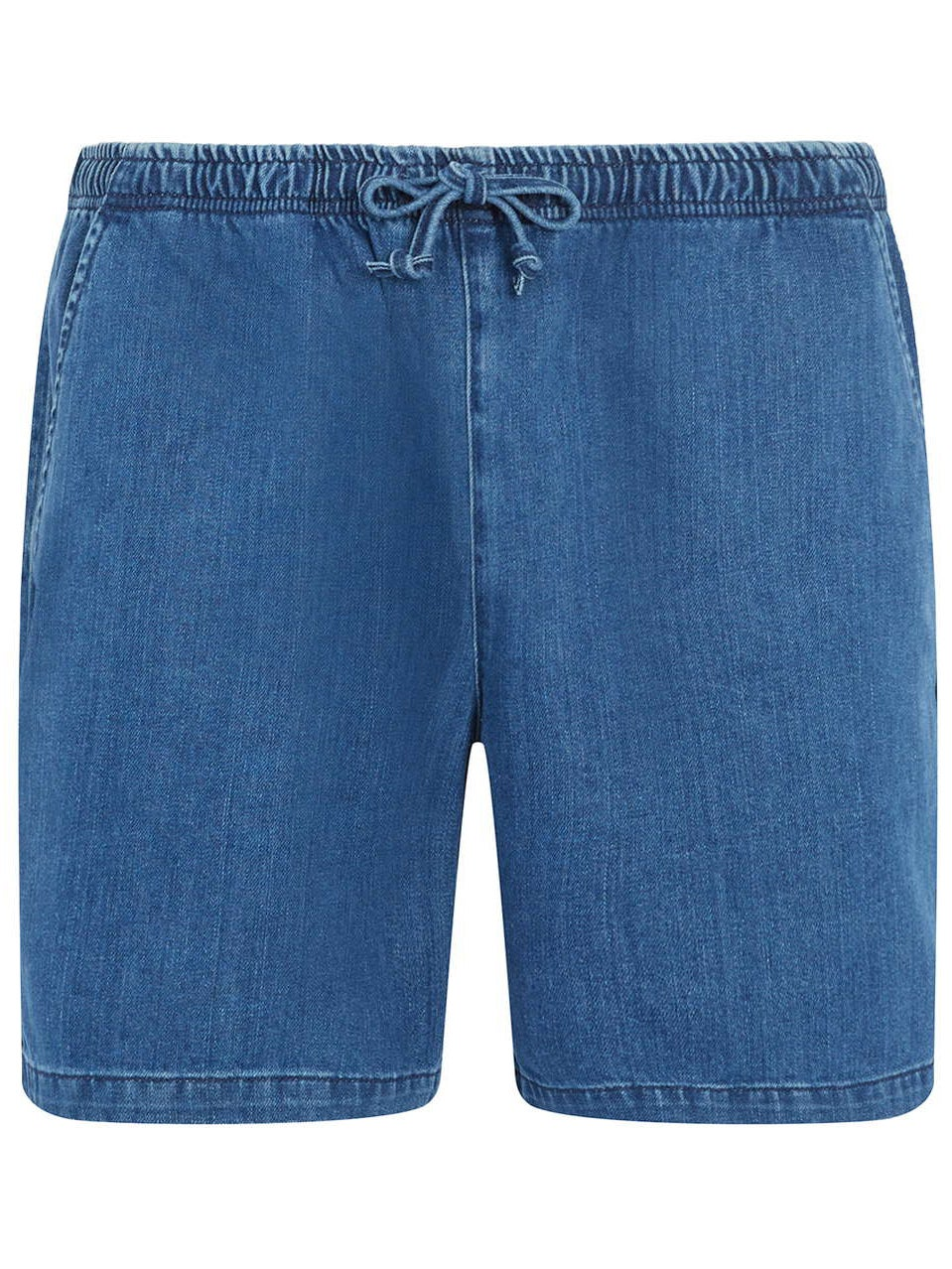 3fa14f25df4fb3 Think of a pair of swim shorts, but in timeless blue denim. These are a  relaxed fit and have an elasticated waistband with drawstring fastening, ...