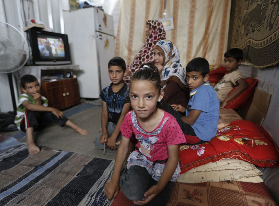 Ghaida al-Najjar, eight, lives with her family in one of the caravans in Khuza'a, a town near Khan Younis, in the south of Gaza (