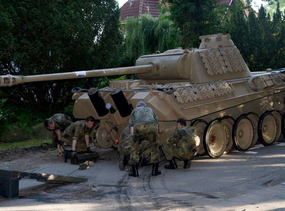 The 1943 Nazi tank was discovered in the basement of a house in the suburbs of Kiel