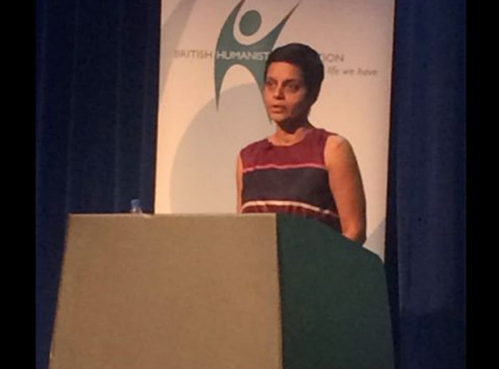 Rafida Bonya Ahmed spoke with heartfelt eloquence during last week's Voltaire lecture
