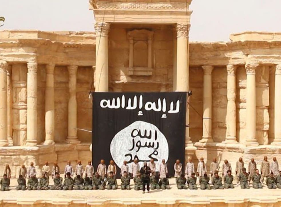 A still from the Isis-released video in Palmyra