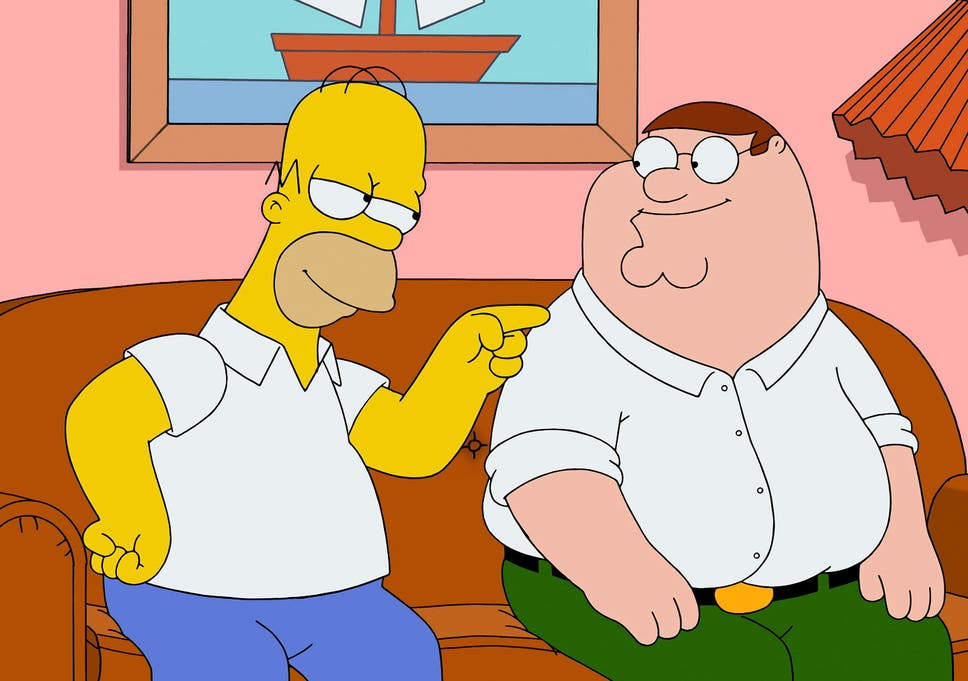 family guy simpsons crossover episode highlights gulf between the