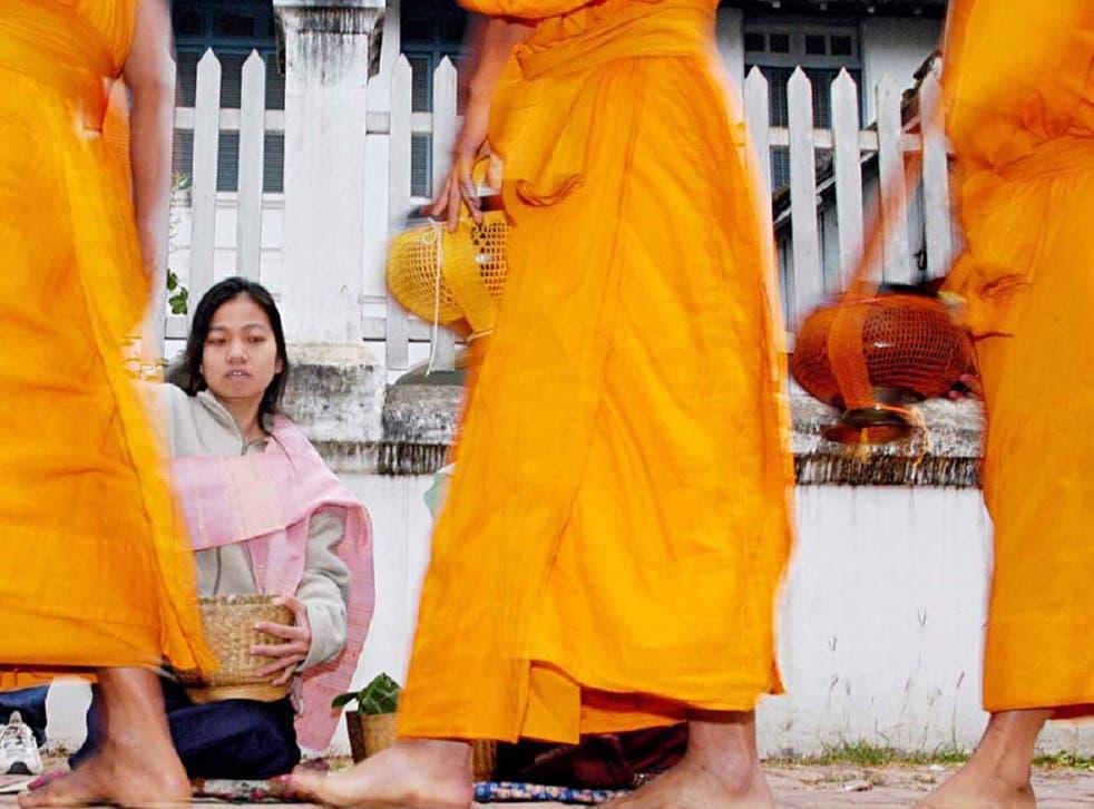 Buddhist monks in Luang Prabang