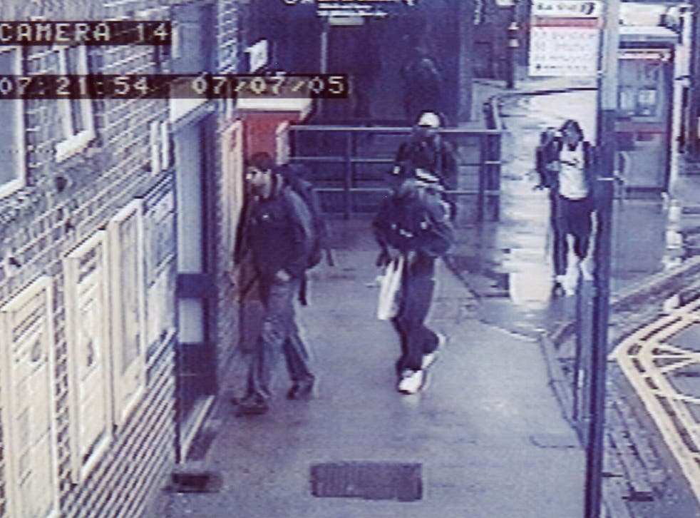 An image taken from CCTV footage of three of the four London bombers. From left to right: Mohammed Sidique Khan, Germaine Lindsay and Shahzad Tanweer arriving at King's Cross
