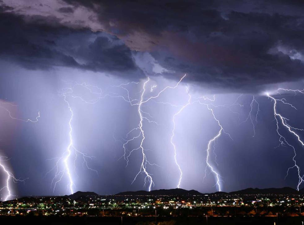 About 50 flashes of lightning are generated every second across the world