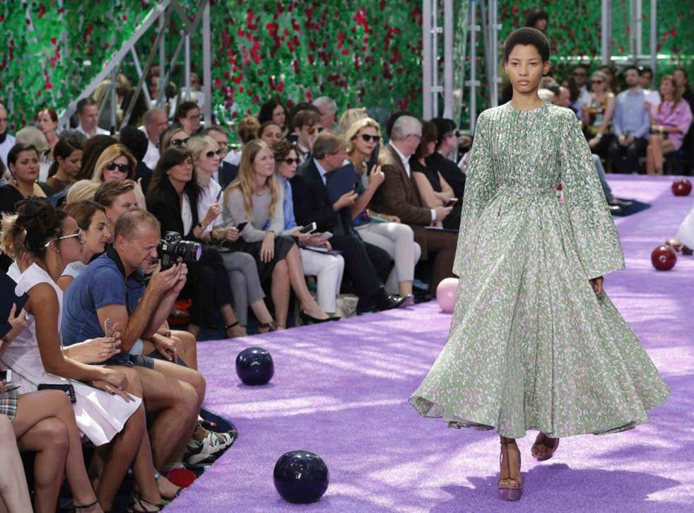 The big idea for Dior this time was a jaunt through history - it was a mash-up