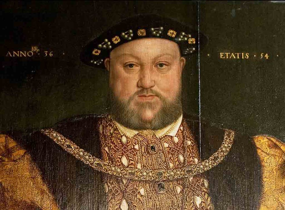 King Henry VIII portrait at Longleat House, Wiltshire, UK