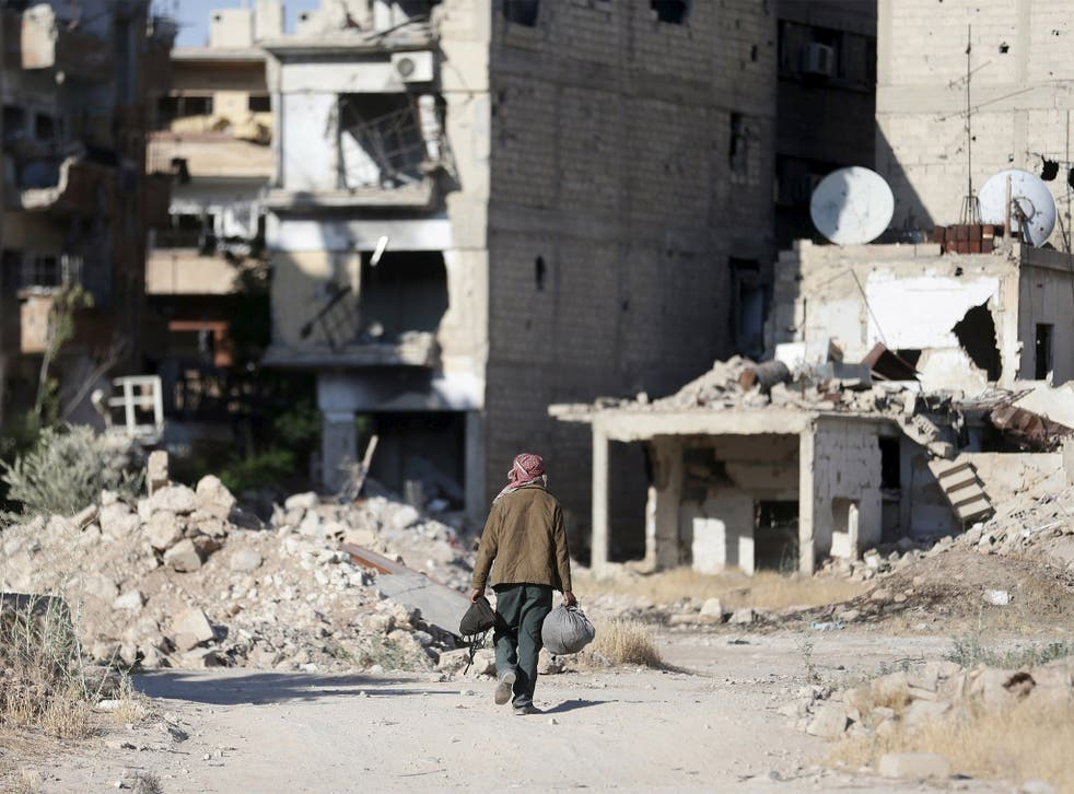 Jobar, a suburb of Damascus, where Syrian rebels have been involved in bitter fighting; now the country's clans are uniting to end the war