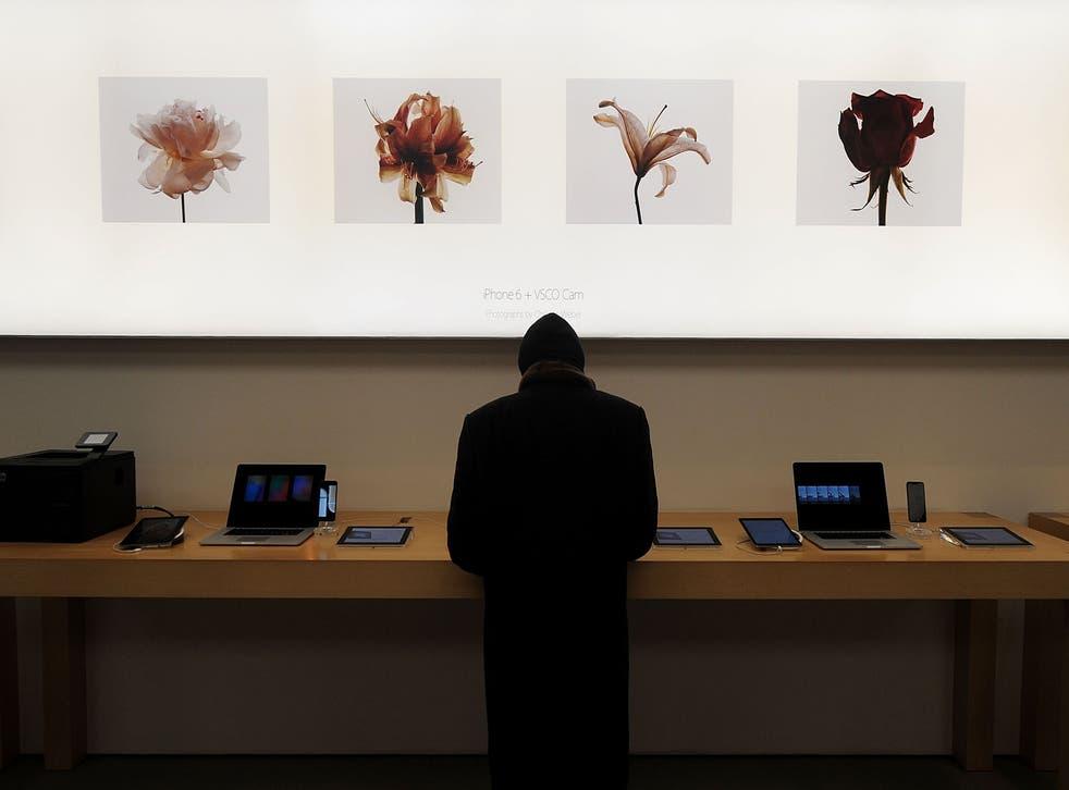 The Apple Store in Soho, New York