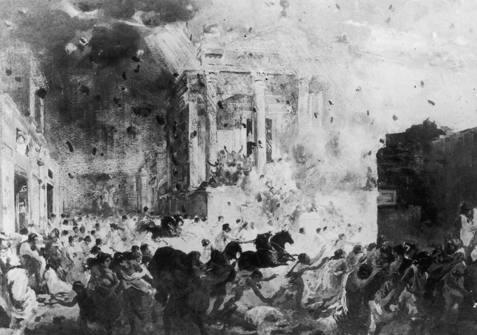 The Eruption Of Mount Vesuvius In 79AD Destroyed Roman City Pompeii Burying Its