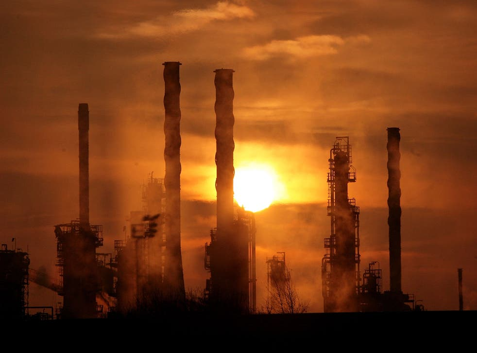The sun rises over an oil refinery in Lincolnshire. File photo