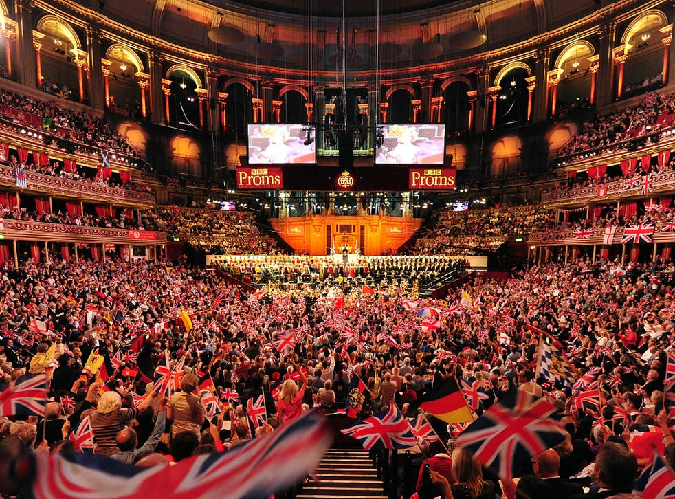People wave their flags at the Proms, 2013 (Getty)