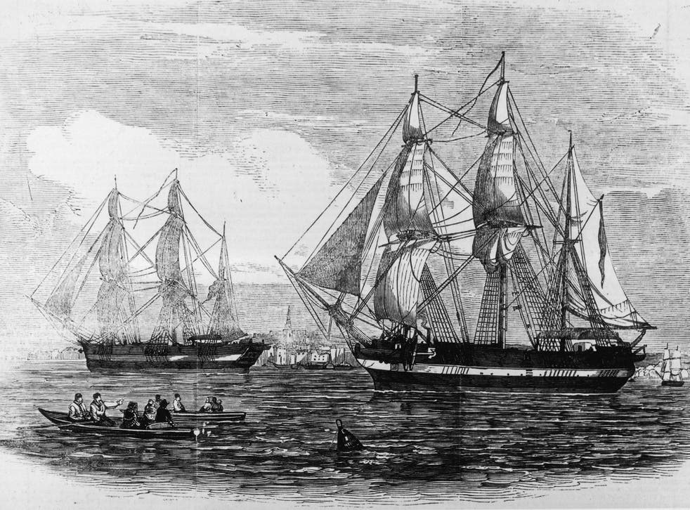 HMS 'Erebus' and HMS 'Terror' were used in Sir John Franklin's ill-fated attempt to discover the North-west Passage in 1845